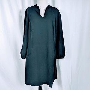 Ellen Tracy Black Long Sleeve Shift Dress